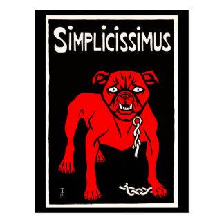 Simplicissimus - Vintage Dog Cartoon Postcard