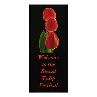 Simplicity 1, Welcome to the Bowal TulipFestival Rack Card