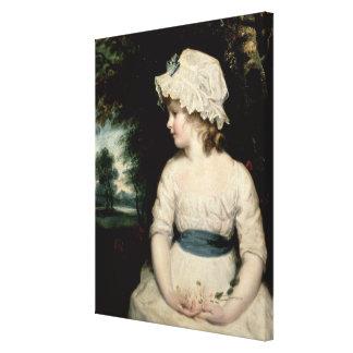 Simplicity - A Portrait of Miss Theophilia Ghatkin Canvas Print
