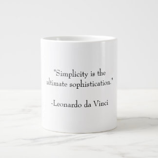 Simplicity and Sophistication 20 Oz Large Ceramic Coffee Mug