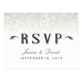 Simplicity Art Deco Style RSVP - Meal Selections Postcard