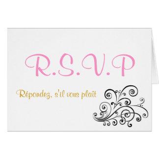 Simplicity at 16 RSVP Card