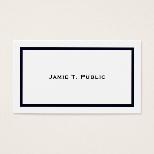 Simplicity: Blue Banded Frame, White Background Business Card