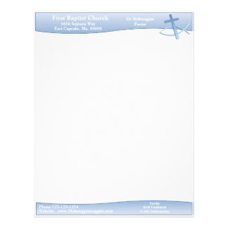 Simplicity Blue Letterhead