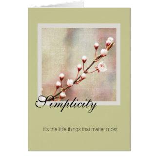 Simplicity Cherry Blossom Card