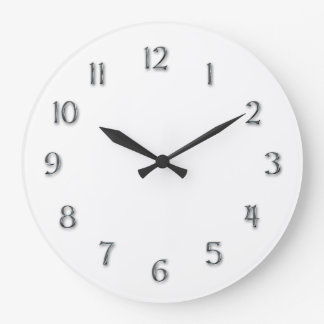 """Simplicity-""""Faux Pewter"""" Numerals Wall Clocks"""
