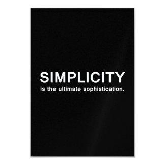 Simplicity 3.5x5 Paper Invitation Card