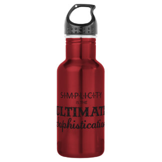 Simplicity is the Ultimate Sophistication 18oz Water Bottle