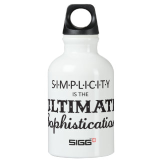 Simplicity is the Ultimate Sophistication SIGG Traveler 0.3L Water Bottle