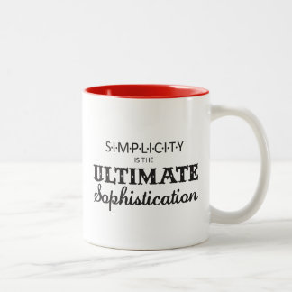 Simplicity is the Ultimate Sophistication Two-Tone Coffee Mug