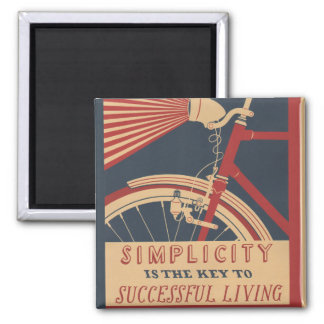 Simplicity Key to Successful Living 2 Inch Square Magnet