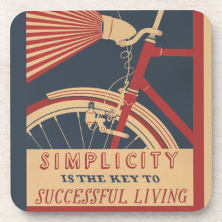 Simplicity Key to Successful Living Drink Coaster