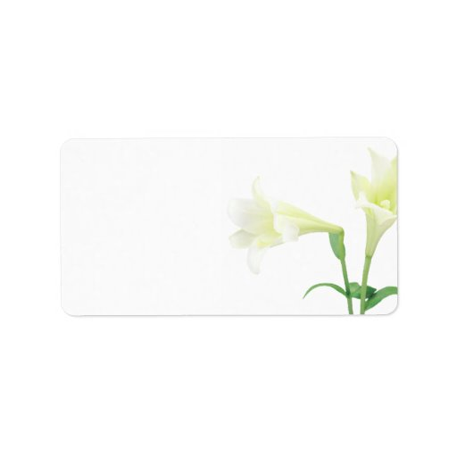 Simplicity l Elegant White Lily Wedding or General Personalized Address Labels