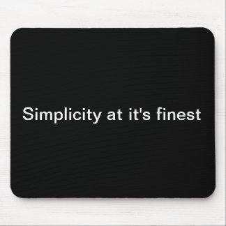 Simplicity Mouse Pads