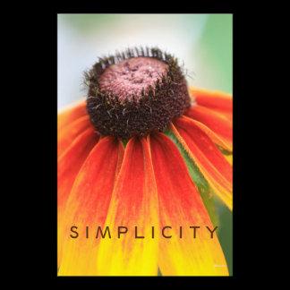 Simplicity Orange Wildflower Custom Photo Print