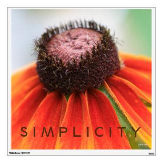 Simplicity Orange Wildflower Customizable Wall Decal