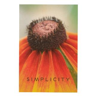 Simplicity Orange Wildflower Customizable Wood Print