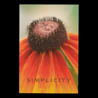 Simplicity Orange Wildflower Customizable Wood Print