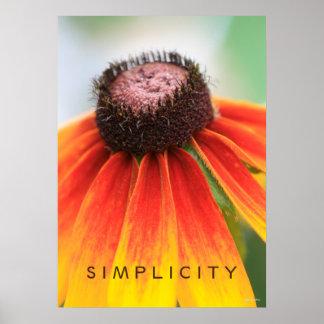 Simplicity Orange Wildflower Poster