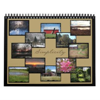 Simplicity- Photographic Calendar