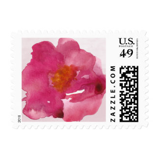 Simplicity Pink Roses Watercolor Postage Stamp