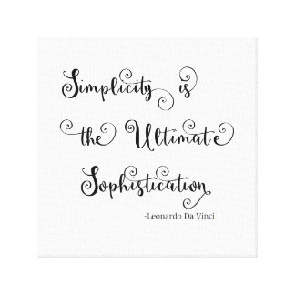 Simplicity Quote - Canvas