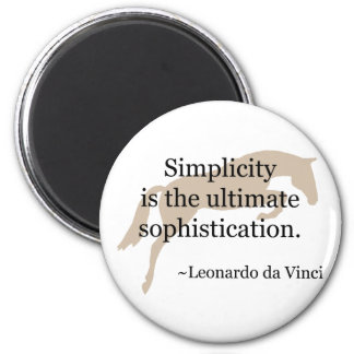Simplicity Quote With Jumper Horse Magnet