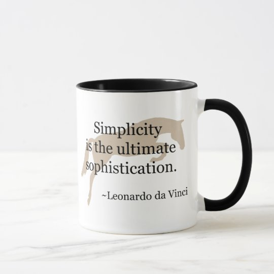 Simplicity Quote With Jumper Horse Mug