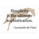 Simplicity Quote With Jumper Horse Postcard