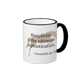 Simplicity Quote With Jumper Horse Ringer Coffee Mug
