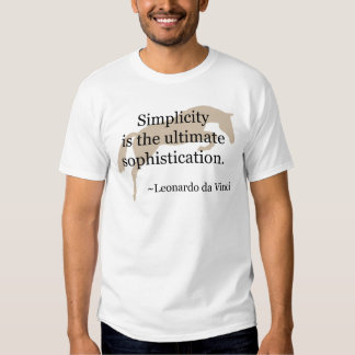 Simplicity Quote With Jumper Horse Tee Shirt
