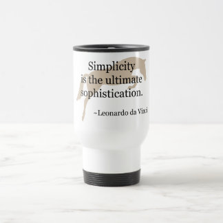 Simplicity Quote With Jumper Horse Travel Mug
