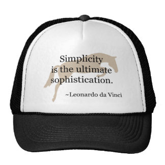 Simplicity Quote With Jumper Horse Trucker Hat