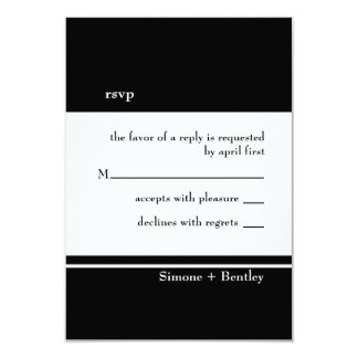 Simplicity rsvp card-black & white personalized invitation