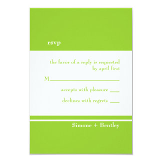 Simplicity rsvp card-grassy green 3.5x5 paper invitation card