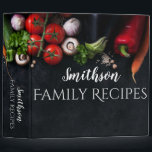 """Simplicity Veggies Recipe Binder<br><div class=""""desc"""">Preserve your family&#39;s recipes in this personalized Simplicity Veggies Recipe Binder with your own name on front and spine. Perfect as a wedding gift,  holiday gift,  birthday,  and so much more!</div>"""