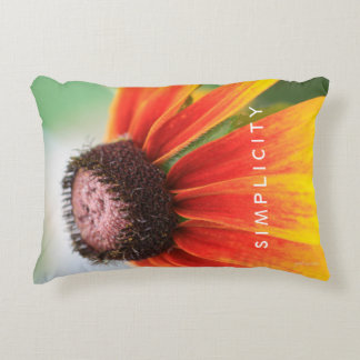 Simplicity Wildflower Orange Yellow Custom Accent Pillow