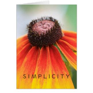 Simplicity Wildflower Orange Yellow Custom Card