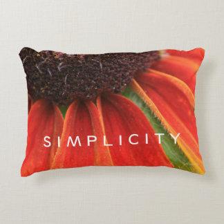 Simplicity Wildflower Orange Yellow Custom Decorative Pillow