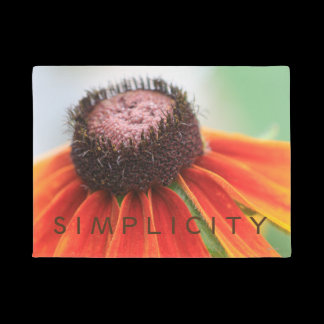 Simplicity Wildflower Orange Yellow Custom Doormat