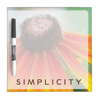 Simplicity Wildflower Orange Yellow Custom Dry-Erase Board