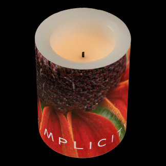 Simplicity Wildflower Orange Yellow Custom Flameless Candle