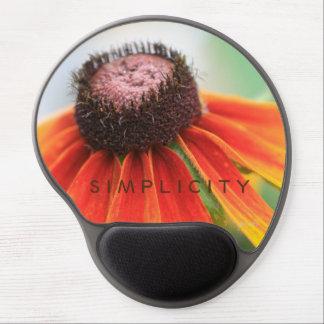 Simplicity Wildflower Orange Yellow Custom Gel Mouse Pad