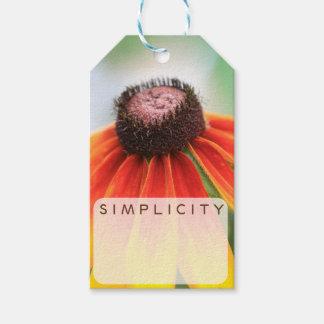 Simplicity Wildflower Orange Yellow Custom Gift Tags