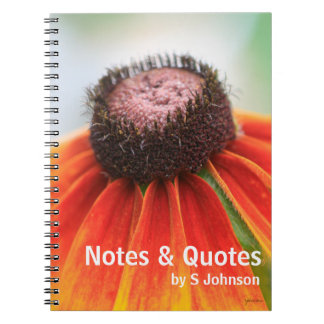 Simplicity Wildflower Orange Yellow Custom Journal