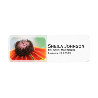 Simplicity Wildflower Orange Yellow Custom Label