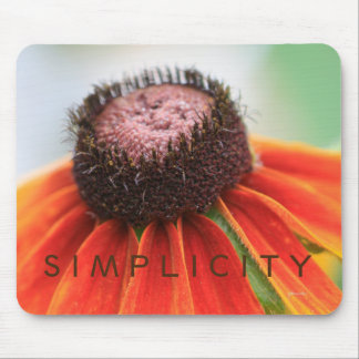 Simplicity Wildflower Orange Yellow Custom Mouse Pad