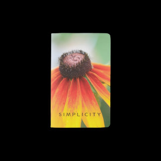 Simplicity Wildflower Orange Yellow Custom Pocket Moleskine Notebook