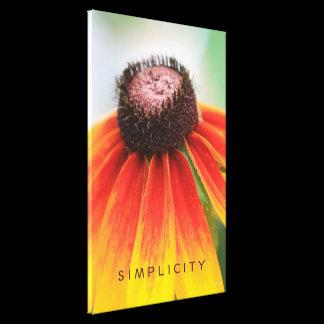 Simplicity Wildflower Orange Yellow CUSTOM SIZED Canvas Print