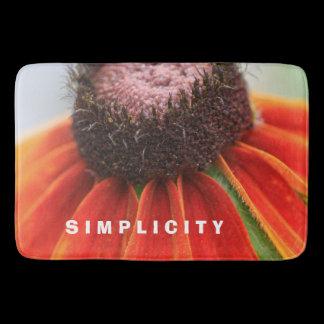 Simplicity Wildflower Orange Yellow Kitchen Mat /